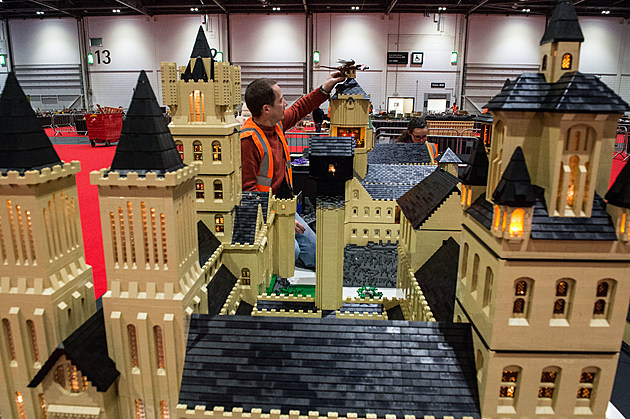 Finishing Touches Are Applied To The Brick Lego Expo 2015