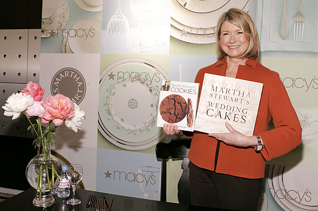 Martha Stewart Signs Her Book At Macy's Herald Square - New York
