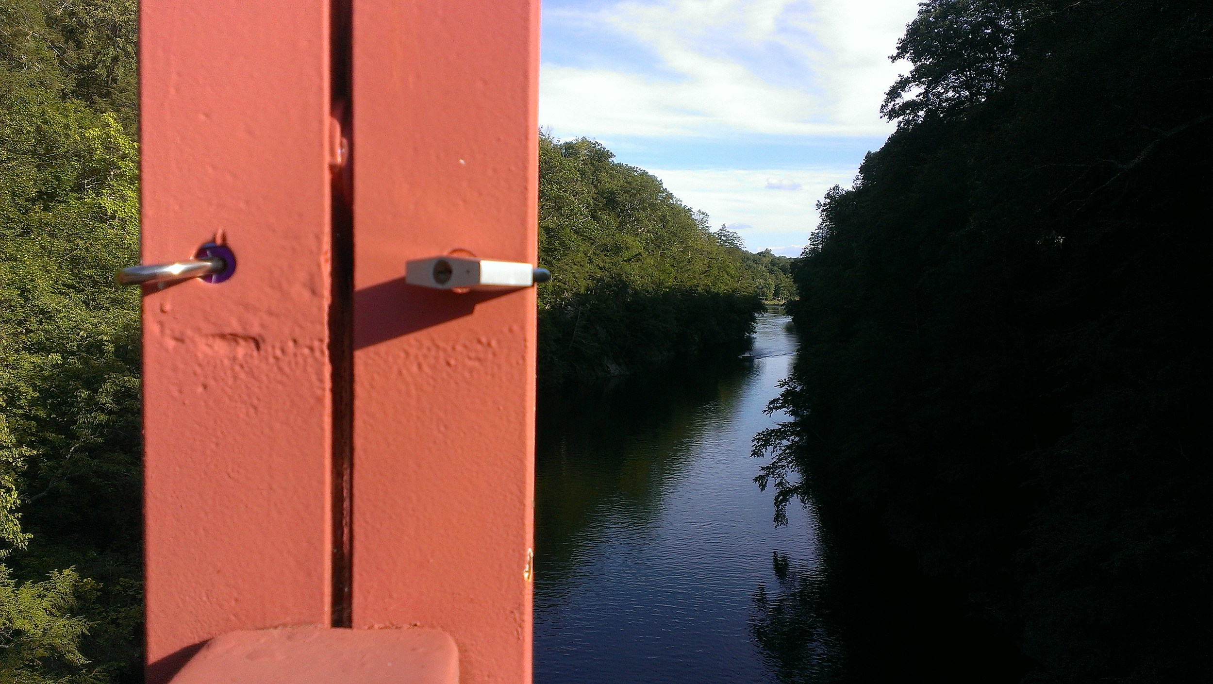 What do the locks on lovers leap bridge in new milford mean biocorpaavc